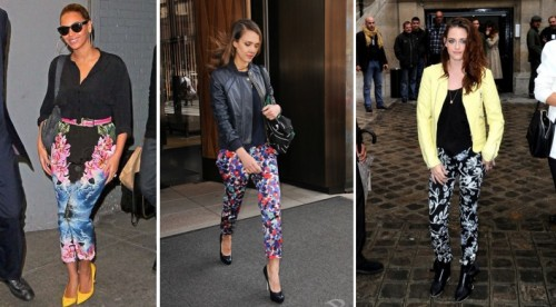 Celebrity Looks for Less-Floral Printed Pants