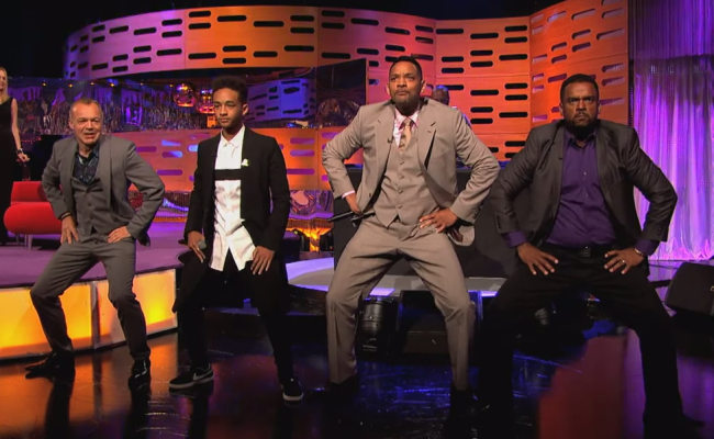 Best Moment on TV! Will & Jaden Smith, DJ Jazzy Jeff and Alfonso Ribeiro Rap!-The Graham Norton Show