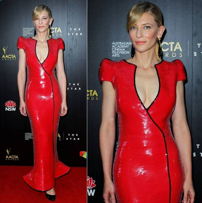 Fashion Police 2014 Cate Blanchett in Armani Prive