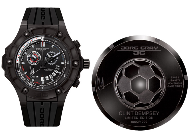 Clint Dempsey Limited Edition Watches by Jorg Gray