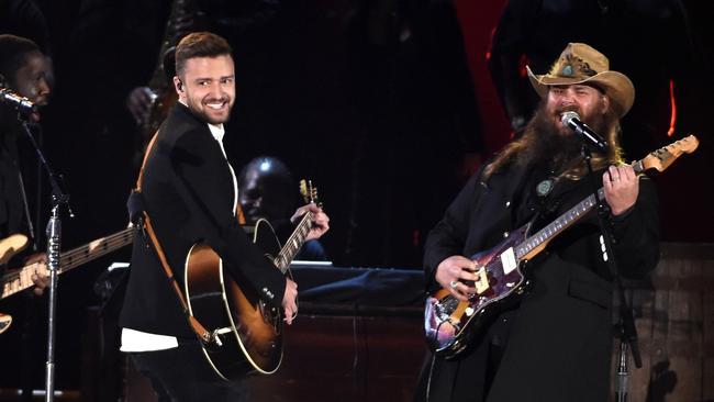 Video Chris Stapleton And Justin Timberlake S Cma Duet