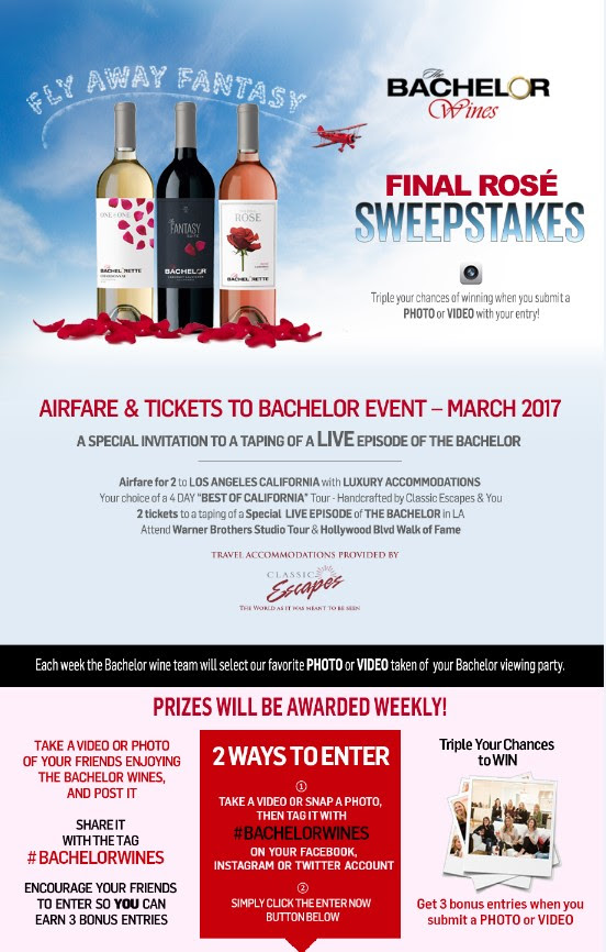 bachelor wines sweepstakes