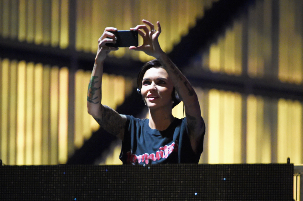 HOUSTON, TX - FEBRUARY 04: DJ/actress Ruby Rose spins during the 2017 DIRECTV NOW Super Saturday Night Concert at Club Nomadic on February 4, 2017 in Houston, Texas. (Photo by Kevin Winter/Getty Images for DIRECTV)